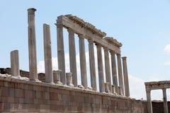 Świątynia Trajan przy akropolem Pergamon Fotografia Royalty Free