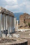 Świątynia Trajan przy akropolem Pergamon Obrazy Stock