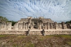 Świątynia Tysiąc wojowników, Chichen Itza, Meksyk Zdjęcia Royalty Free