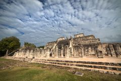 Świątynia Tysiąc wojowników, Chichen Itza, Meksyk fotografia royalty free