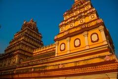Świątynia w Goa Arambol indu Obrazy Royalty Free