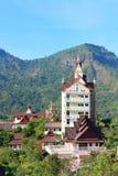 Świątynia w halnym (Wat Pha Sorn Kaew) Fotografia Royalty Free
