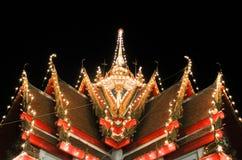 Świątynia w nocy zdjęcia stock