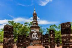 Świątynia w Sukhothai Dziejowy Parkowy Tajlandia Zdjęcia Stock