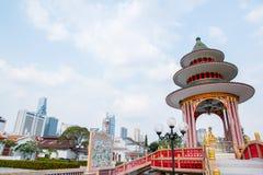 Świątynia w Tio Żuć Chińskiego cmentarz Fotografia Royalty Free