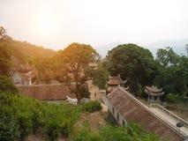 Świątynia w tradycyjnym architektonicznym stylu wschód, Hai d Obrazy Royalty Free