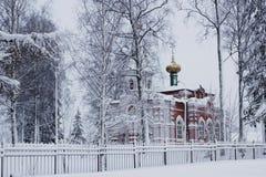 Świątynia w zimie Obrazy Stock