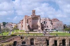 Świątynia Wenus i Roma, Włochy obraz royalty free