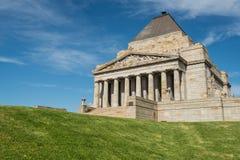 Świątynia wspominanie pierwsza wojna światowa & II pamiątkowy miejsce w Melbourne, Australia Zdjęcia Royalty Free