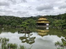 Świątynia Złoty pawilon w Kyoto Japonia fotografia royalty free