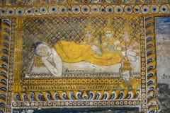 Świątynia z antykwarskim obrazem o prawie karmy od roku 1928 Zdjęcia Royalty Free