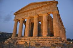 Świątynia zgoda przy Agrigento Fotografia Royalty Free