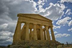 Świątynia zgoda - Sicily Zdjęcie Royalty Free