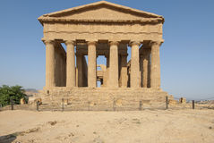Świątynia zgody dolina świątynie Agrigento Sicily Włochy Europe Obrazy Royalty Free