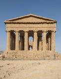 Świątynia zgody dolina świątynie Agrigento Sicily Włochy Europe Obrazy Stock
