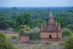 Świątynie bagan Myanmar Zdjęcie Royalty Free