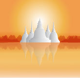 Świątynie i pagody w pięknej scenerii Fotografia Royalty Free