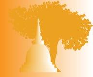 Świątynie i pagody w pięknej scenerii Fotografia Stock