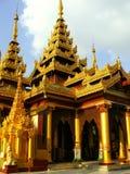 Świątynie Shwedagon Pagodowy kompleks, Yangon, Myanmar Obrazy Royalty Free