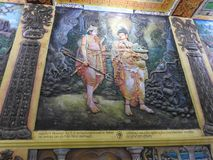 Świątynna dekoracja i duży Buddha zabytek, turystyczny miejsce przeznaczenia, Sri Lanka obrazy stock