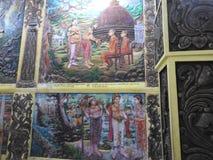 Świątynna dekoracja i duży Buddha zabytek, turystyczny miejsce przeznaczenia, Sri Lanka fotografia stock