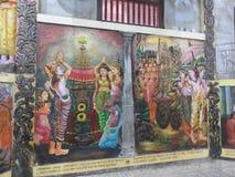 Świątynna dekoracja i duży Buddha zabytek, turystyczny miejsce przeznaczenia, Sri Lanka zdjęcie stock