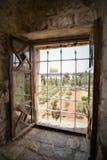 Świątynna góra z złotą kopułą w starym mieście Jerozolima zdjęcia royalty free