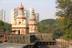 Świątynna kopuła lub Kalash Morya Gosavi świątynia, Chinchwad, Pune zdjęcia royalty free