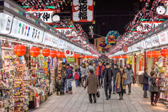 Świątynna zakupy arkada w Japonia Obrazy Royalty Free