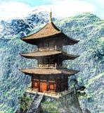 świątynne buddyjskie góry royalty ilustracja