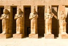 świątynne karnak statuy zdjęcia royalty free