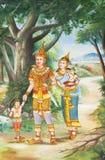 świątynne tajlandzkie ściany Obraz Royalty Free