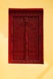 Świątynni czerwoni okno Zdjęcie Stock