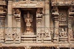 świątynni hinduscy bas reliefes Zdjęcia Royalty Free