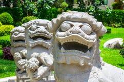 Świątynni lwy Obrazy Stock
