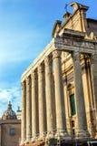 Świątynny Antonius Faustina Romański forum Rzym Włochy Obrazy Royalty Free