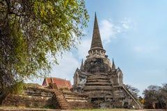Świątynny antyczny biały pagodowy miejsce kultu sławny Obrazy Stock