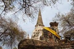 Świątynny antyczny biały pagodowy miejsce kultu sławny Fotografia Stock