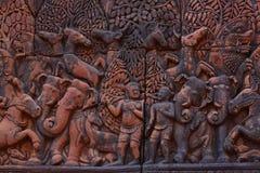 Świątynny Banteay Srei w Angkor Zdjęcia Royalty Free