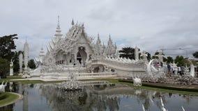 Świątynny biały Wat Tęsk Khun Zdjęcia Royalty Free