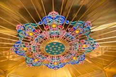 Świątynny colourful mandala stropuje dekorację zdjęcia royalty free