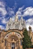 Świątynny Del Sagrat Cor. Barcelona punkt zwrotny, Hiszpania. Zdjęcie Stock