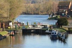 Świątynny kędziorek na Rzecznym Thames Zdjęcia Royalty Free