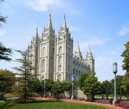 Świątynny Kwadratowy budynek w Salt Lake City obrazy royalty free