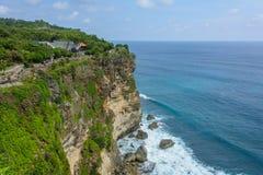 Świątynny Pura Luhur Uluwatu na falezie, Bali, Indonezja Zdjęcia Stock
