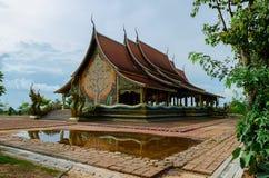 Świątynny Sirindhorn Wararam Phuproud, artystyczny, Tajlandia, społeczeństwo pl Obraz Royalty Free
