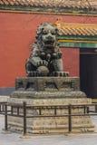 Świątynny smok lub lew, Fotografia Royalty Free