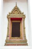 świątynny tajlandzki okno Zdjęcia Stock