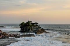 Świątynny Tanah udział na Bali zdjęcie royalty free