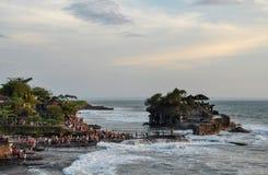 Świątynny Tanah udział na Bali obraz stock
